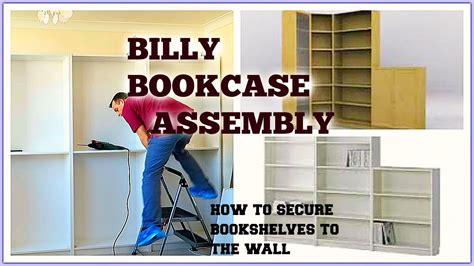 attach bookcase to wall ikea billy bookcase assembly youtube