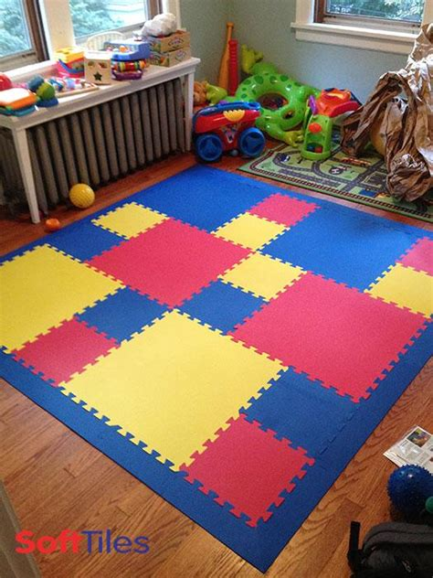 Play Mat Squares by Foam Tiles For Playroom Mat Softtiles
