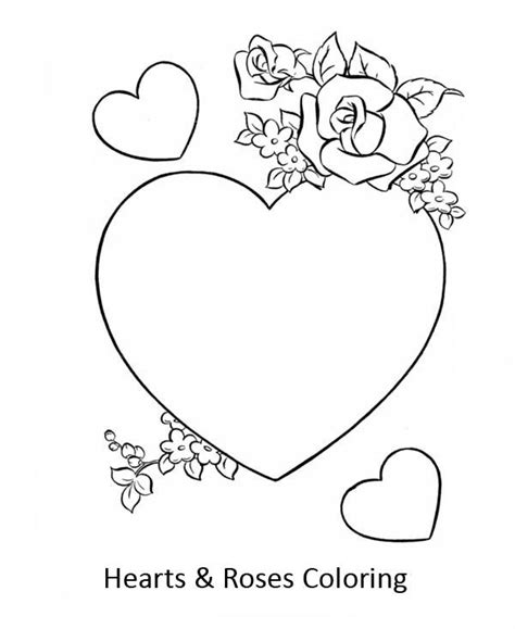 coloring pages of hearts with roses coloring pictures of hearts and roses coloring home