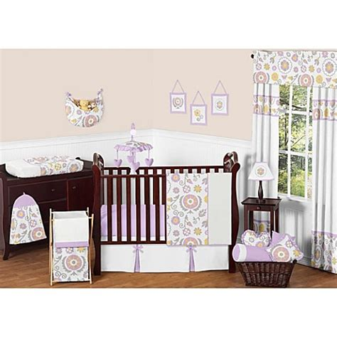 Lavendar Crib Bedding Sweet Jojo Designs Suzanna Crib Bedding Collection In Lavender White Buybuy Baby