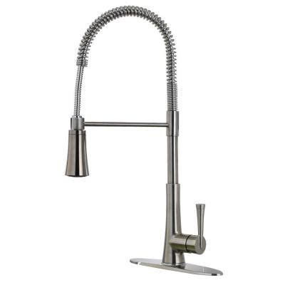 Industrial Kitchen Faucet Sprayer Pfister Mystique Commercial Style Single Handle Pull Sprayer Kitchen Faucet In Stainless