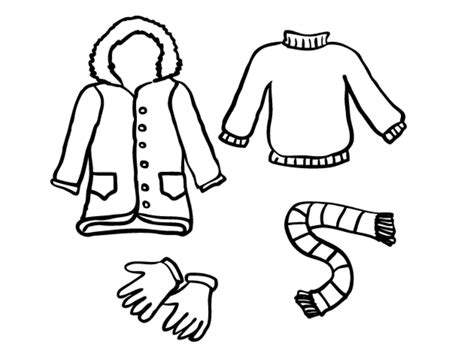 winter clothes coloring sheets murderthestout