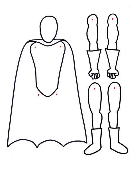 superhero paper doll template superhero paper doll sle