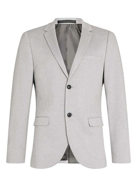 light gray blazer mens topman light grey skinny fit jersey blazer in gray for men
