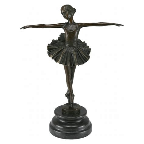 Wooden Garden Art - bronze ballerina sculpture figure ballerina ornament garden marble collectable luxury pure shop