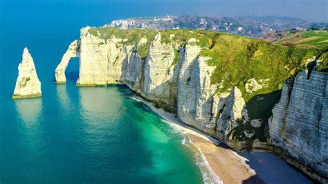 cliff  etretat coastline normandy seine maritime