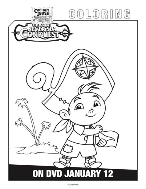 disney coloring pages jake and the neverland disney captain jake and the neverland cubby