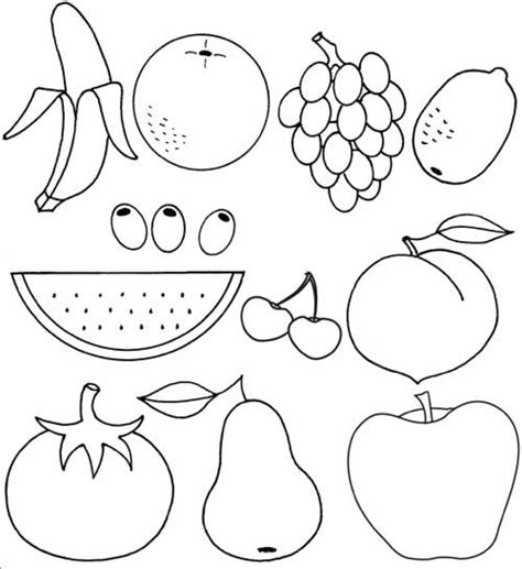 fruit coloring pages get this printable fruit coloring pages 55459