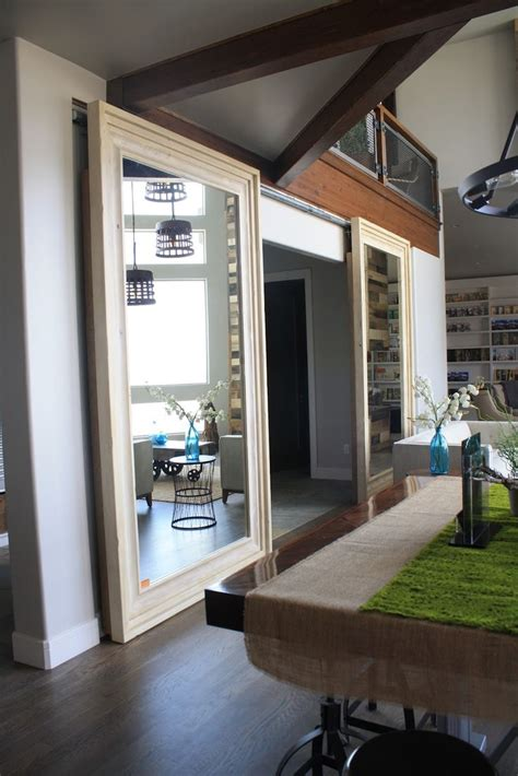 Sliding Doors That Are Mirrors Rooms And Spaces Pinterest Mirrored Sliding Barn Door