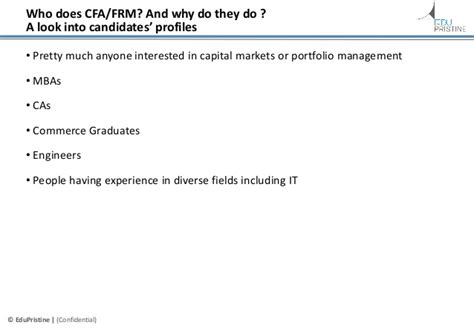 Benefits Of Doing Cfa After Mba by Career Prospects After Cfa Frm A Comparative Analysis