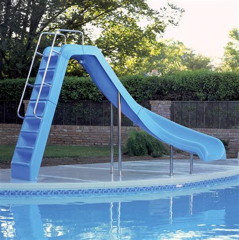 Backyard Pools With Slides Swimming Pool Slides Ride Pool Slide Backyard Leisure