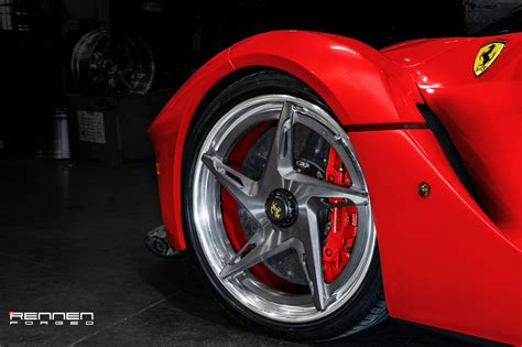 laferrari wheels laferrari on rennen forged r53 wheels