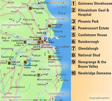 top attractions map popular 265 list ireland tourist map