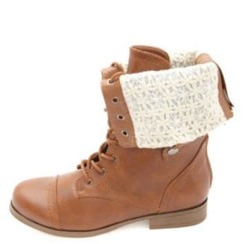 sweater lined foldover combat boots lace lined fold combat boots by from russe