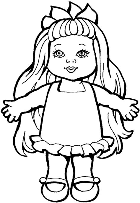 coloring page of a baby doll kids corner