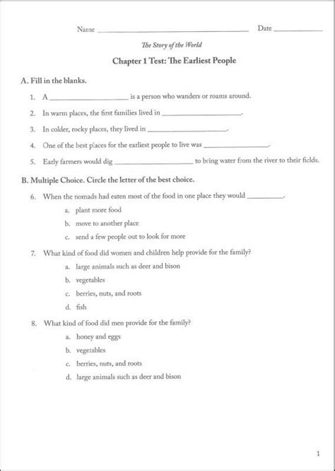 For The World Volume 1 story of the world volume 1 tests and answer key 029952