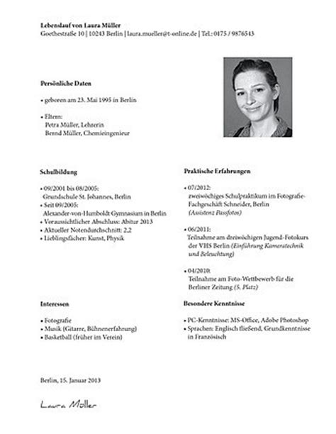 Lebenslauf Vorlage Für Praktikum Student Lebenslauf F 252 R Praktikum