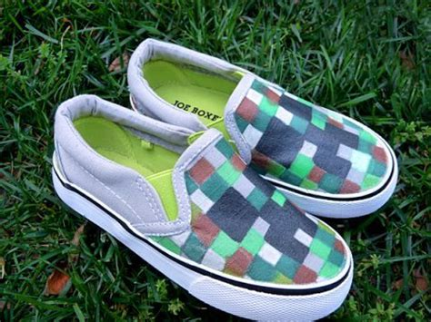 diy minecraft shoes diy minecraft shoes project