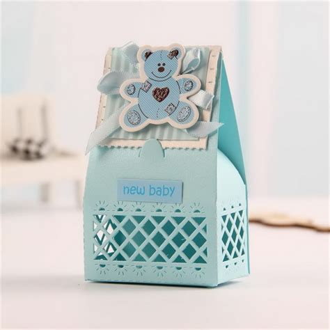 Baby Shower Bomboniere Ideas pink and blue baby favors boxes baptism bombonieres