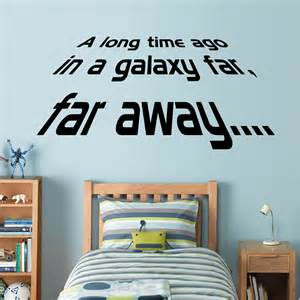 Star Wars Wall Stickers Star Wars A Long Time Ago Wall Stickers Amp Decals
