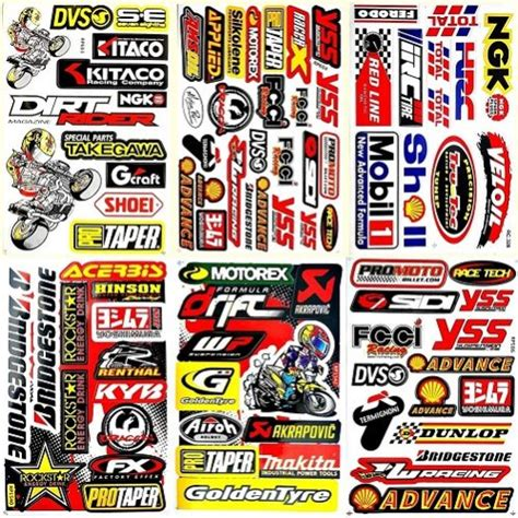motocross bike stickers personalize your ride the best motorcycle stickers