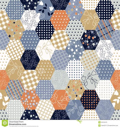 Geometric Patchwork Patterns - colorful patchwork seamless patterns royalty free stock