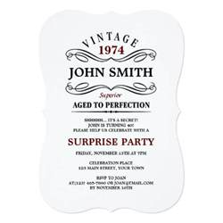 vintage aged to perfection funny birthday 5x7 paper