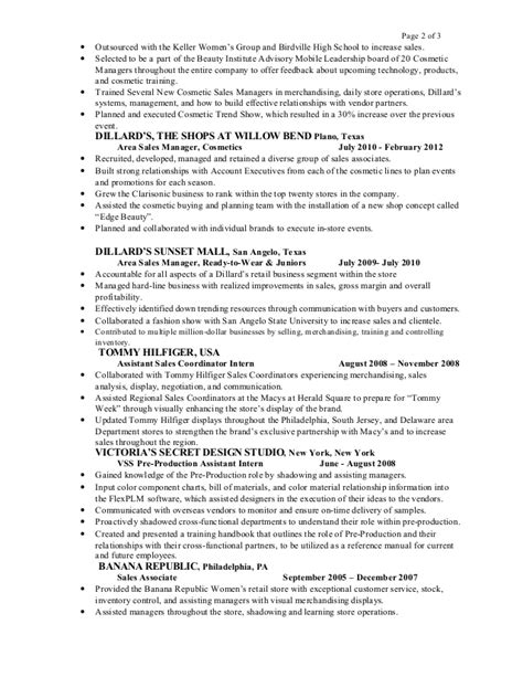Macy S Sales Associate Resume Sle Alexandra Diaz Resume 2015