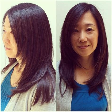 face framing piecy hair forward graduation face framing layers asian hair my