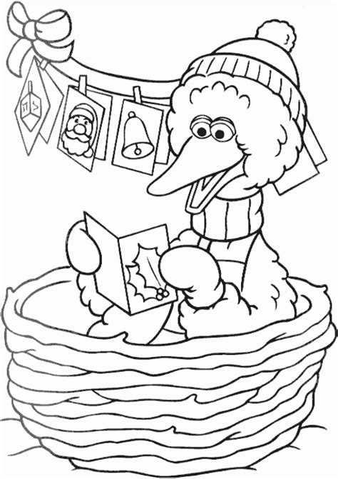 big coloring pages for christmas christmas big bird coloring page coloring com