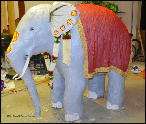 How To Make A Paper Mache Elephant For - happy 1st birthday techie s diy adventures techie s diy