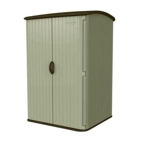 Suncast Vertical Garden Shed Suncast Large Vertical 4 Ft X 4 Ft 8 In Resin