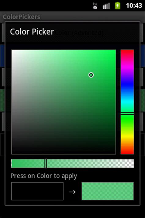 android color picker mono for android color picker sle 183 cheesy bits and bobs