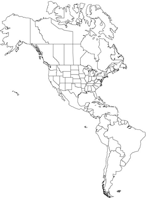 america outline map pdf americas outline map worldatlas