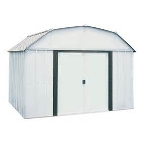 sheds at lowes shop arrow galvanized steel storage shed common 10 ft x