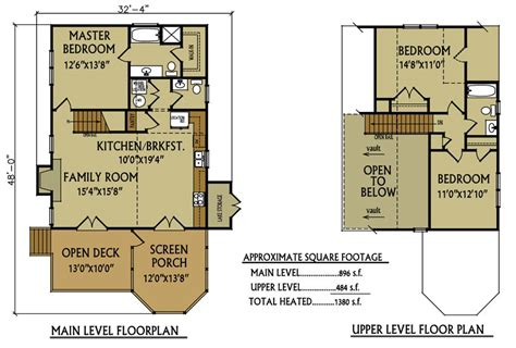 Small Lake Cottage Floor Plans | small cabin floor plan 3 bedroom cabin by max fulbright