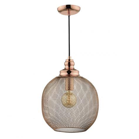 Decorative Woven Copper Sphere Ceiling Pendant Light Copper Pendant Ceiling Light