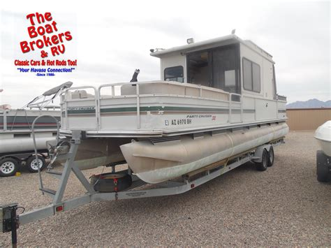 used pontoon boats arizona 2000 tracker party barge 32ft pontoon the boat brokers