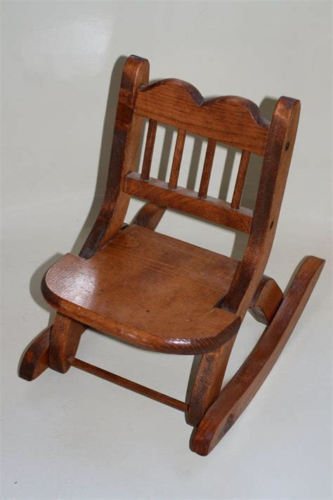 Doll Rocking Chair by Wooden Doll Size Rocking Chair Fits 18 Inch Dolls
