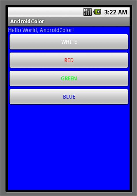 android color codes android er using color in android by java code