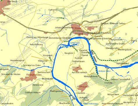 kare stehle der fr 252 he bergbau an der ruhr historische karte des
