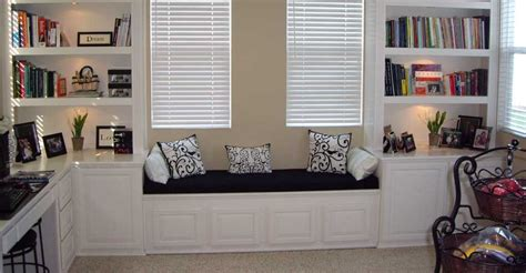 built in home office designs built in home office with window seat 10 office with built