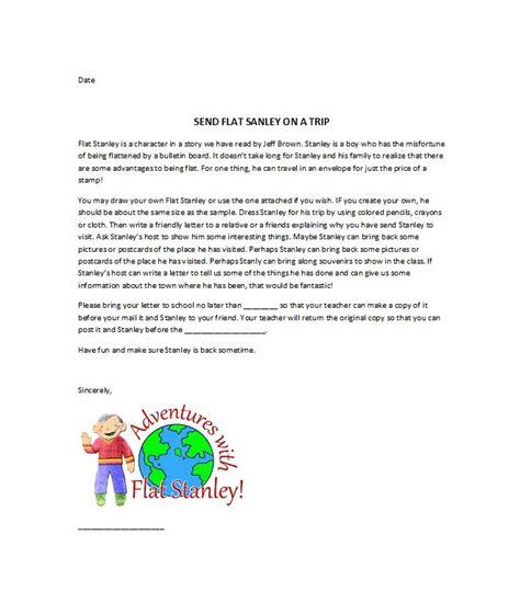 free printable flat stanley template 37 flat stanley templates letter exles free
