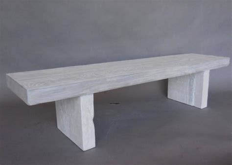 White Bench Coffee Table by Reclaimed Wood Bench Or Coffee Table In White Wash Finish
