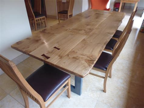 Live Edge Kitchen Table Bespoke Handmade Tables Handmade Refectory Tables Live Edge Slab Dining Tables Quercus Furniture