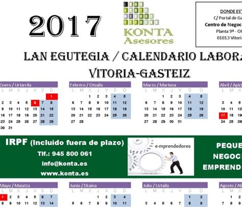calendario irpf alava 2016 calendario irpf alava 2016 calendario laboral vitoria