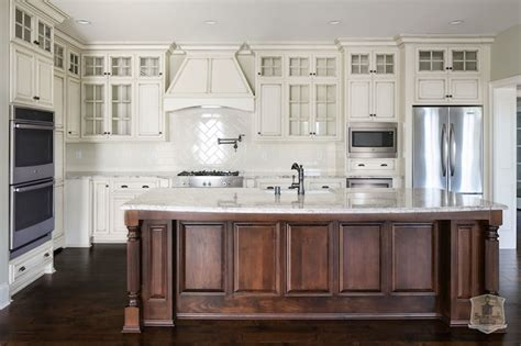 gray distressed kitchen cabinets with marble herringbone gray granite countertops transitional kitchen