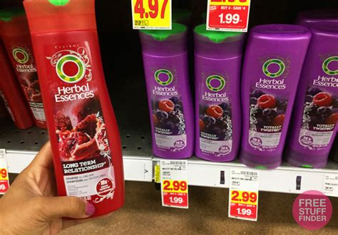 kroger mega sale herbal essences hair care only 0 69 0 99 reg 3 herbal essences hair products at kroger