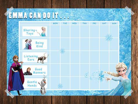 printable reward charts frozen frozen toddler reward chart behaviour chart chore chart
