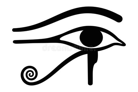 wedjat eye of horus ancient egyptian symbol stock vector